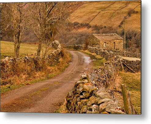 Country Metal Print featuring the photograph Country Lane Yorkshire Dales by Trevor Kersley