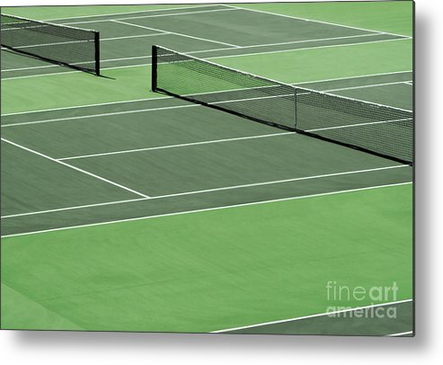 Sport Metal Print featuring the photograph Tennis Court by Blink Images