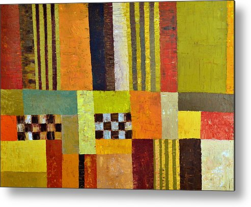 Colorful Metal Print featuring the painting Color And Pattern Abstract by Michelle Calkins