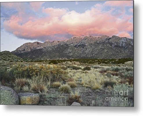 Albuquerque New Mexico Metal Print featuring the photograph Fairytale Clouds by Andrea Hazel Ihlefeld