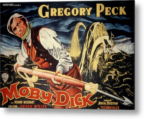 1950s Poster Art Metal Print featuring the photograph Moby Dick, Gregory Peck, 1956 by Everett