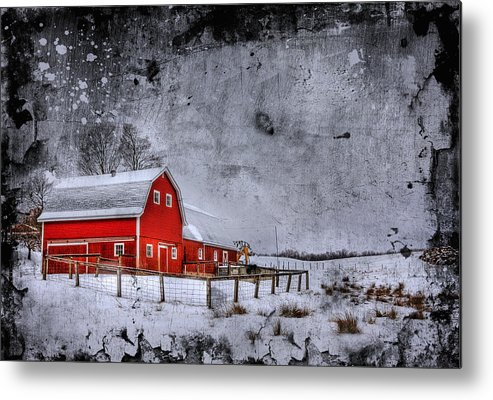 Barn Metal Print featuring the photograph Rural Textures by Evelina Kremsdorf