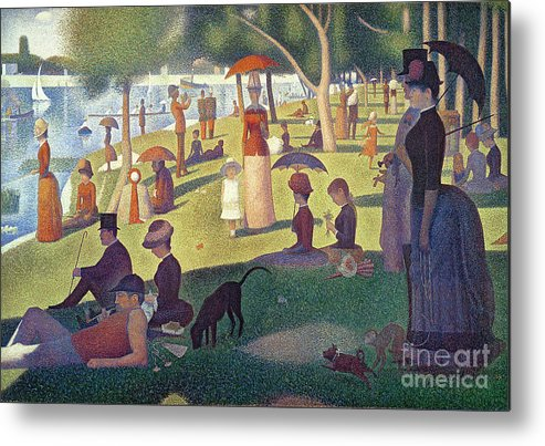 Sunday Metal Print featuring the painting Sunday Afternoon On The Island Of La Grande Jatte by Georges Pierre Seurat