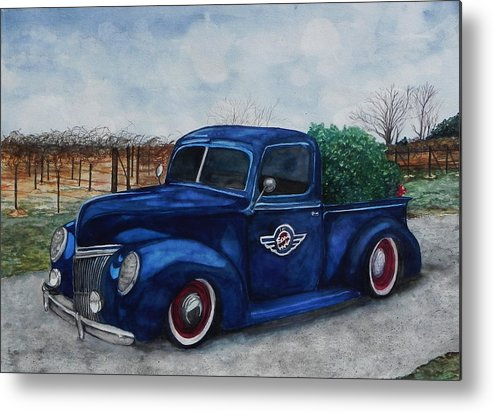 Truck Metal Print featuring the painting Baxter Truck by Stacey Pilkington-Smith