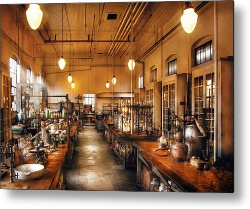 Savad Metal Print featuring the photograph Chemist - The Chem Lab by Mike Savad