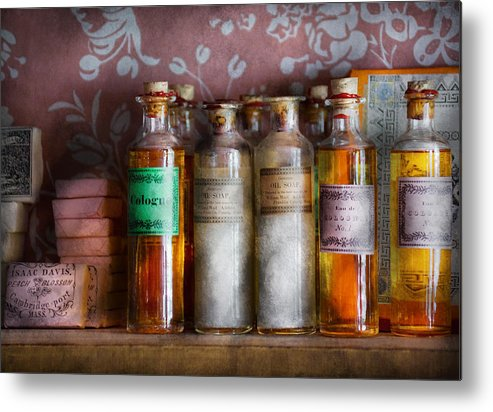 Suburbanscenes Metal Print featuring the photograph Doctor - Perfume - Soap And Cologne by Mike Savad