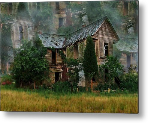 Abandoned House Metal Print featuring the photograph Faded Dreams by Julie Dant