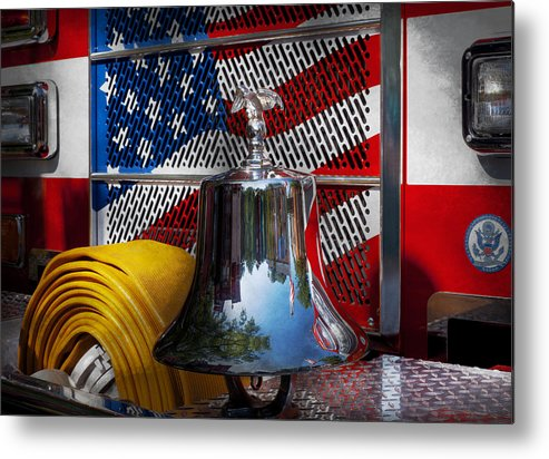 Fire Metal Print featuring the photograph Fireman - Red Hot by Mike Savad