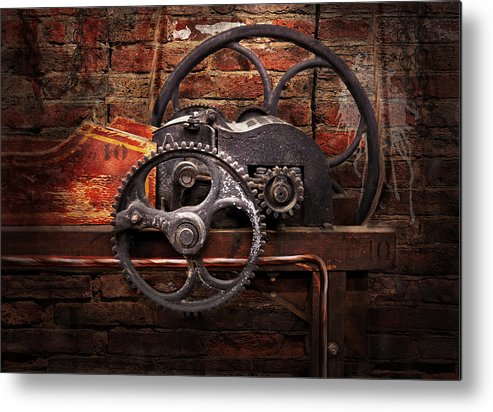 Hdr Metal Print featuring the digital art Steampunk - No 10 by Mike Savad