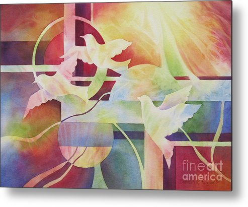 World Peace Metal Print featuring the painting World Peace 2 by Deborah Ronglien