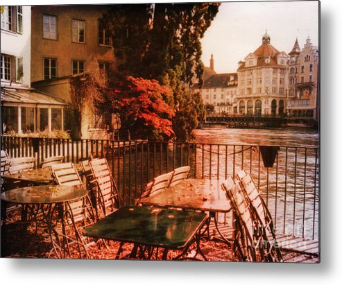 Lucerne Metal Print featuring the photograph Fall In Lucerne Switzerland by Susanne Van Hulst