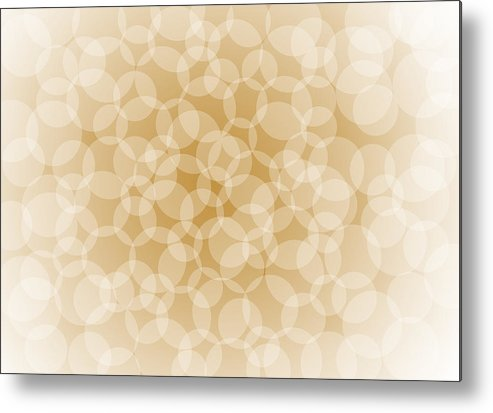 Abstract Metal Print featuring the painting Sanguine Abstract Circles by Frank Tschakert