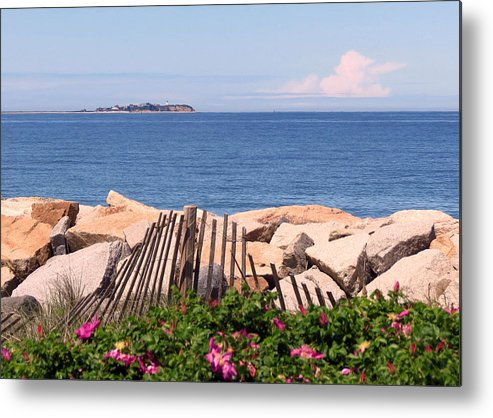Beach Metal Print featuring the photograph At The Beach by Janice Drew