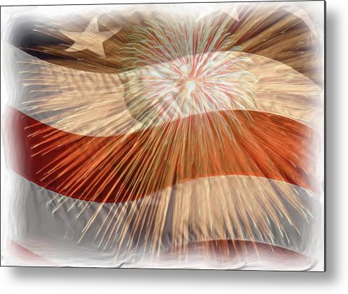 4th Metal Print featuring the photograph Bombs Bursting In Air by Heidi Smith