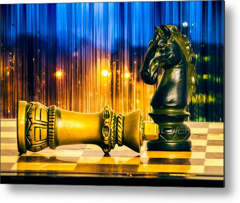 Chess Metal Print featuring the photograph Condescending Knight by Bob Orsillo