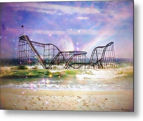 Hurricane Sandy Metal Print featuring the photograph Hurricane Sandy Jetstar Roller Coaster Fantasy by Jessica Cirz