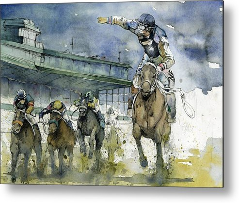 Horse Metal Print featuring the painting Keeneland by Michael Pattison