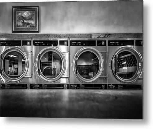 Abstract Metal Print featuring the photograph Laundromat Art by Bob Orsillo