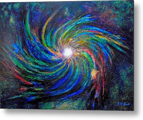 Digital Metal Print featuring the painting Star Birth by Michael Durst