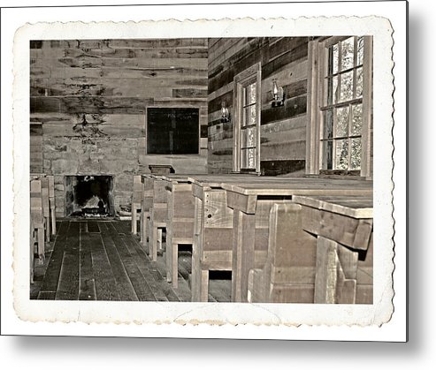 1800 Metal Print featuring the photograph The Old Schoolhouse by Susan Leggett