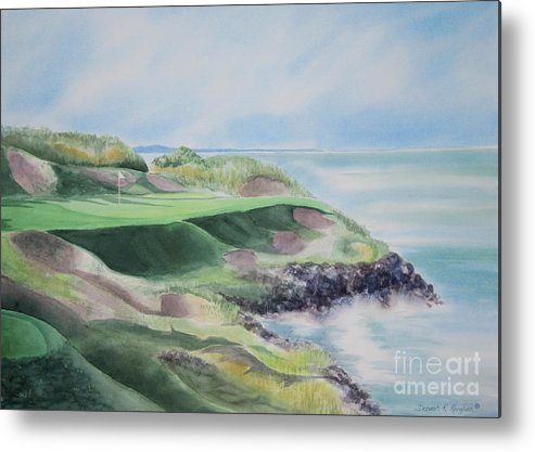 Whistling Straits Metal Print featuring the painting Whistling Straits 7th Hole by Deborah Ronglien