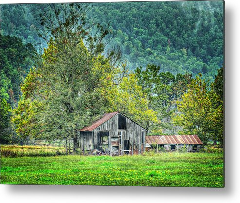 Barn Metal Print featuring the photograph 1209-1298 - Boxley Valley Barn 2 by Randy Forrester