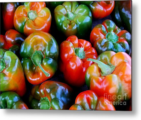 Pepper Metal Print featuring the photograph Sweet Peppers by Guy Harnett