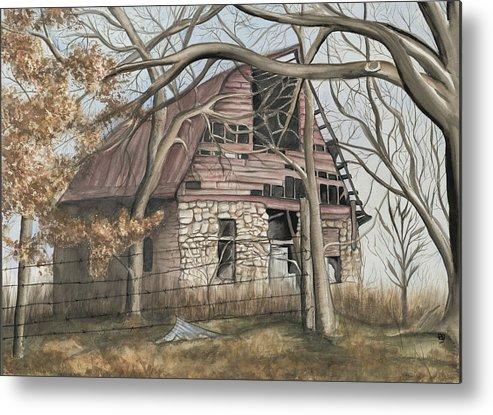 Barn Metal Print featuring the painting Bella Vista Barn by Patty Vicknair