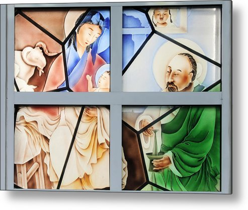 Family Metal Print featuring the photograph Jesus Is Chinese by Christine Till