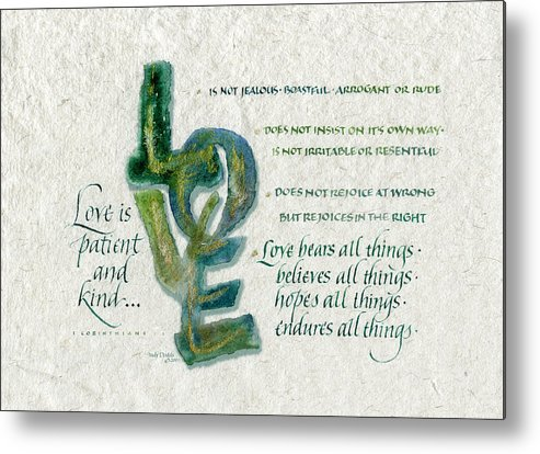 Anniversary Metal Print featuring the painting Love Is by Judy Dodds