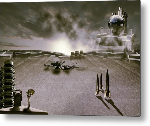 Abstract Metal Print featuring the photograph The Industrial Revolution by Nathan Wright