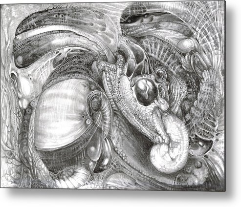 Fomorii Metal Print featuring the drawing Fomorii Aliens by Otto Rapp