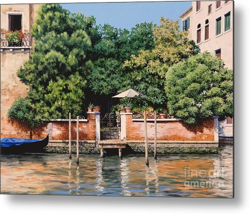Venice Oasis Metal Print featuring the painting Grand Canal Oasis by Michael Swanson
