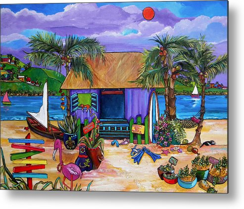 Island Metal Print featuring the painting Island Time by Patti Schermerhorn