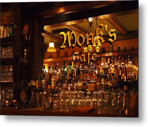 Monk's Cafe Metal Print featuring the photograph Monks Cafe by Rona Black