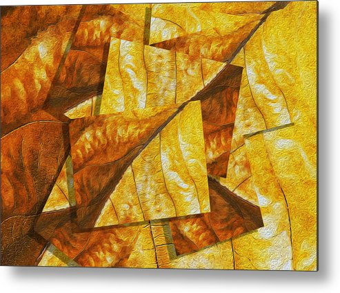 Digital Metal Print featuring the painting Shades Of Autumn by Jack Zulli