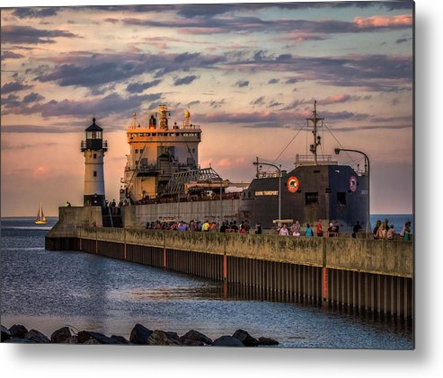 Duluth Metal Print featuring the photograph Ship Ahoy by Mary Amerman