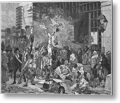 1789 Metal Print featuring the photograph French Revolution, 1789 by Granger
