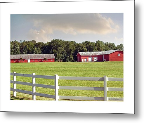2d Metal Print featuring the photograph Farm Pasture by Brian Wallace