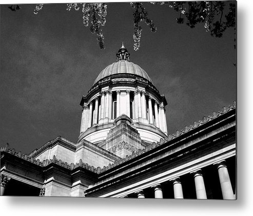 Capital Metal Print featuring the photograph Black And White by Kevin D Davis
