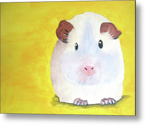 Guinee Metal Print featuring the painting Guinee Pig by Darren Stein