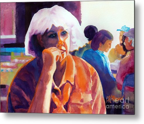 Paintings Metal Print featuring the painting I've Got A Secret by Kathy Braud