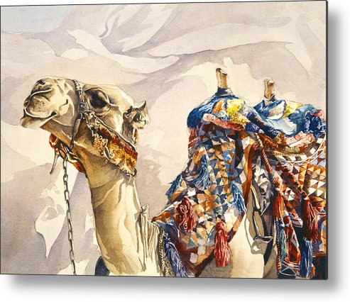 Camel Metal Print featuring the painting Prince Of The Desert by Beth Kantor