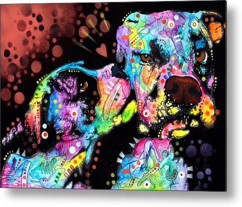 Dog Metal Print featuring the painting Puppy Love by Dean Russo