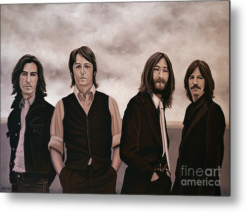 The Beatles Metal Print featuring the painting The Beatles by Paul Meijering