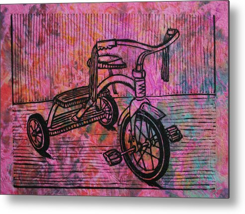 Tricycle Metal Print featuring the drawing Tricycle by William Cauthern