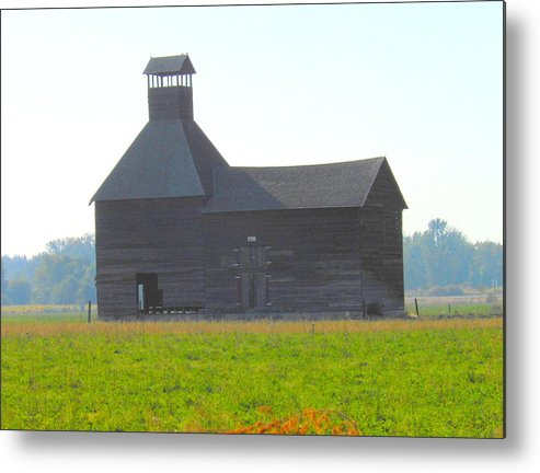 Architecture Metal Print featuring the photograph Abandoned by Kay Gilley
