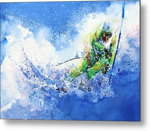 Olympic Sports Metal Print featuring the painting Competitive Edge by Hanne Lore Koehler