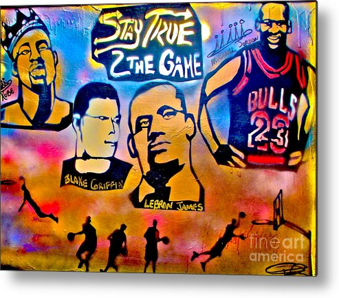 Kobe Bryant Metal Print featuring the painting Stay True 2 The Game No 1 by Tony B Conscious