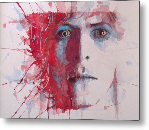 David Bowie Metal Print featuring the painting The Prettiest Star by Paul Lovering